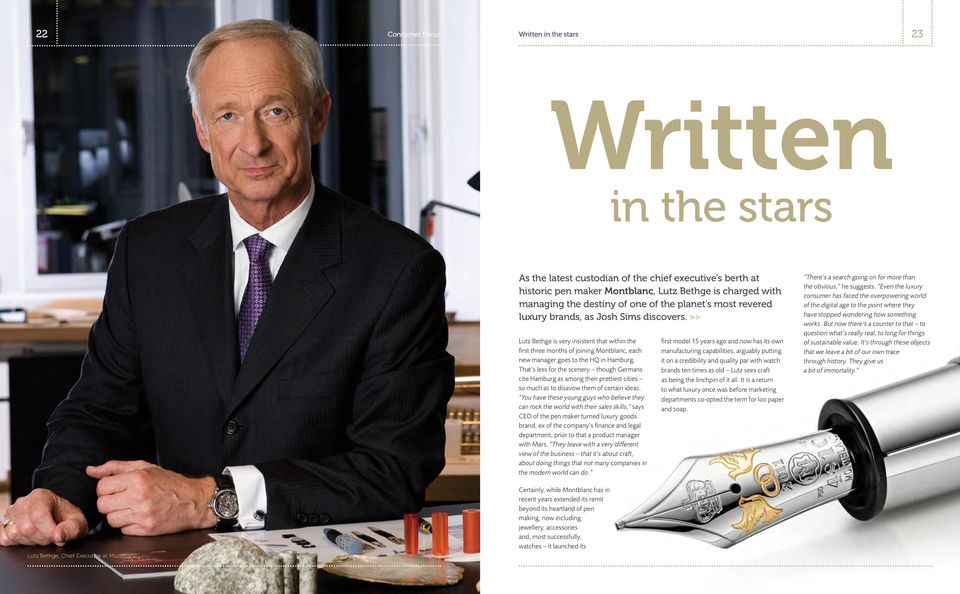 Ceo của MontBlanc - Ông Lutz Bethge